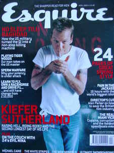 <!--2003-04-->Esquire magazine - Kiefer Sutherland cover (April 2003)