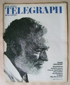 The Daily Telegraph magazine - Ernest Hemingway cover (19 May 1972)