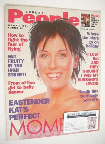 <!--2001-08-12-->Sunday People magazine - 12 August 2001 - Jessie Wallace c