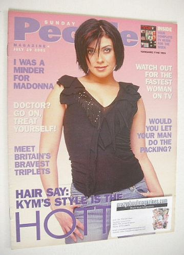 <!--2001-07-29-->Sunday People magazine - 29 July 2001 - Kym Marsh cover