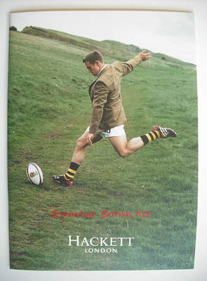 Hackett brochure - Autumn/Winter 2003 - Jonny Wilkinson cover