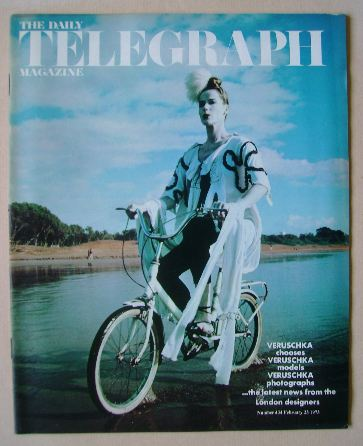 <!--1973-02-23-->The Daily Telegraph magazine - Veruschka cover (23 Februar