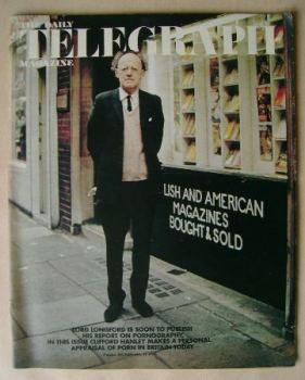 The Daily Telegraph magazine - Lord Longford cover (15 September 1972)