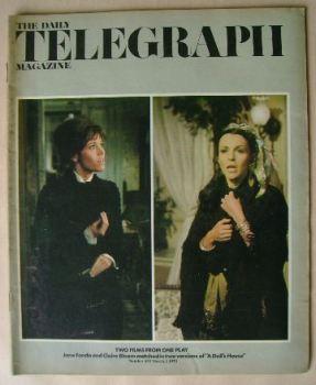 The Daily Telegraph magazine - Jane Fonda / Claire Bloom cover (2 March 1973)