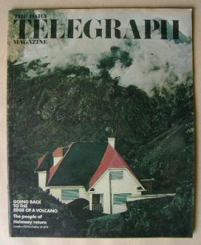 The Daily Telegraph magazine - Edge Of A Volcano cover (23 November 1973)