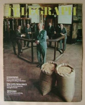 The Daily Telegraph magazine - Commodities cover (14 March 1975)