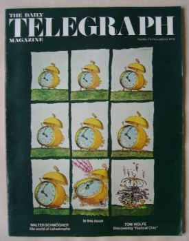 The Daily Telegraph magazine - Alarm Clock cover (6 November 1970)
