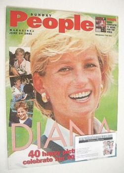 Sunday People magazine - 24 June 2001 - Princess Diana cover