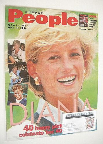 <!--2001-06-24-->Sunday People magazine - 24 June 2001 - Princess Diana cov