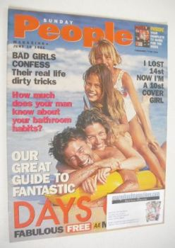 Sunday People magazine - 10 June 2001 - Days Out cover