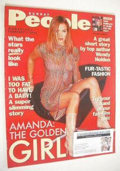 Sunday People magazine - 4 February 2001 - Amanda Holden cover