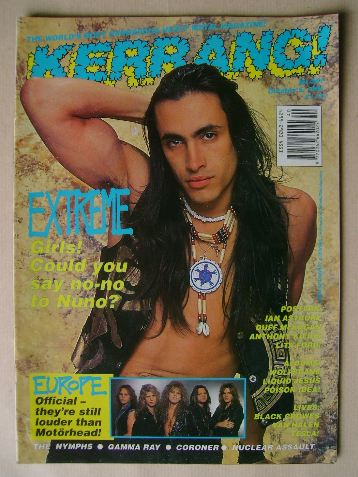 <!--1991-10-05-->Kerrang magazine - Nuno Bettencourt cover (5 October 1991