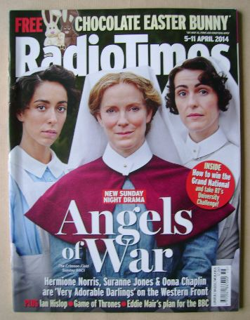 <!--2014-04-05-->Radio Times magazine - Oona Chaplin, Hermione Norris and S