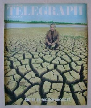 The Daily Telegraph magazine - Geoff Bowyer at Pitsford Reservoir cover (30 July 1976)