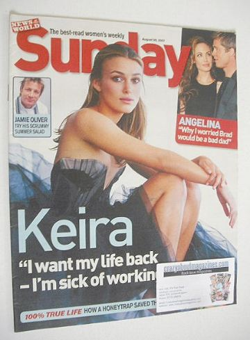 <!--2007-08-26-->Sunday magazine - 26 August 2007 - Keira Knightley cover