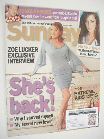 <!--2007-03-18-->Sunday magazine - 18 March 2007 - Zoe Lucker cover