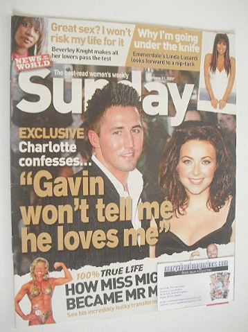 <!--2007-02-11-->Sunday magazine - 11 February 2007 - Gavin Henson and Char