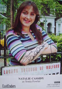 Natalie Cassidy autograph (ex EastEnders actor)