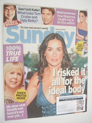 <!--2007-01-28-->Sunday magazine - 28 January 2007 - Demi Moore cover
