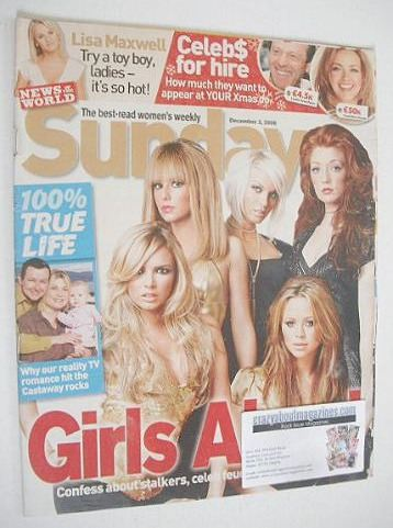 <!--2006-12-03-->Sunday magazine - 3 December 2006 - Girls Aloud cover