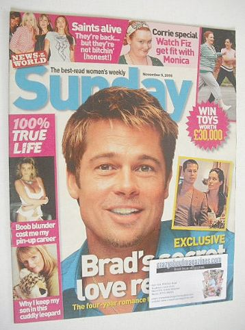 <!--2006-11-05-->Sunday magazine - 5 November 2006 - Brad Pitt cover