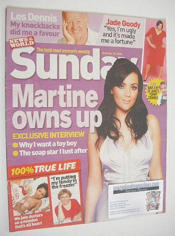 <!--2006-10-15-->Sunday magazine - 15 October 2006 - Martine McCutcheon cov