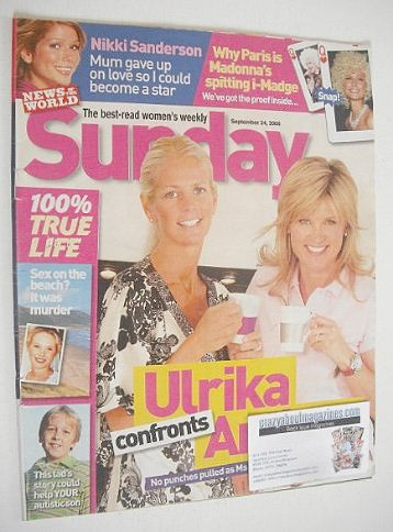 <!--2006-09-24-->Sunday magazine - 24 September 2006 - Ulrika and Anthea co