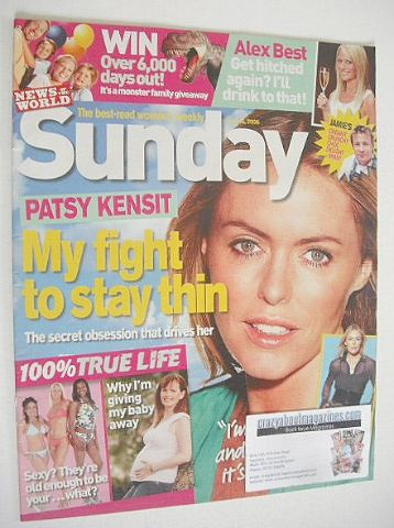 <!--2006-07-16-->Sunday magazine - 16 July 2006 - Patsy Kensit cover