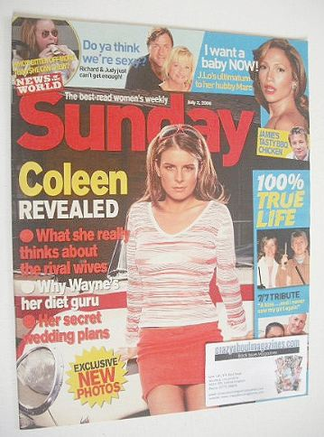 <!--2006-07-02-->Sunday magazine - 2 July 2006 - Coleen Rooney cover