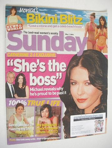 <!--2006-05-07-->Sunday magazine - 7 May 2006 - Catherine Zeta Jones cover