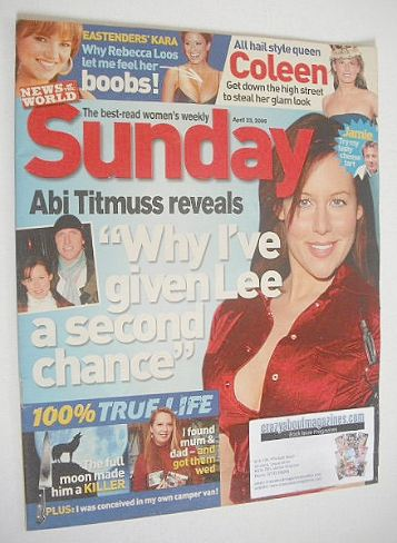 <!--2006-04-23-->Sunday magazine - 23 April 2006 - Abi Titmuss cover