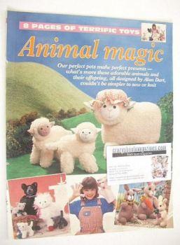 Animal Magic knitting/sewing patterns (designed by Alan Dart)