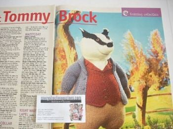 Beatrix Potter Tommy Brock toy knitting pattern (by Alan Dart)