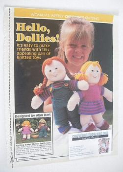 Pair of Dollies knitting pattern (designed by Alan Dart)