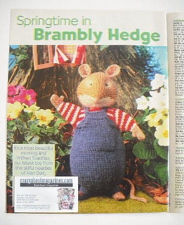 Brambly Hedge Wilfred Toadflax toy to knit (designed by Alan Dart)