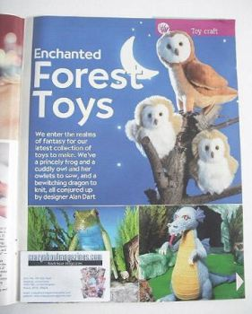 Enchanted Forest Toys to sew/knit (designed by Alan Dart)