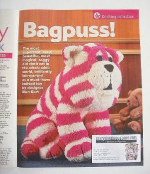 Bagpuss toy knitting pattern (designed by Alan Dart)