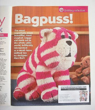 Bagpuss knitting pattern (designed by Alan Dart)