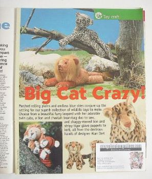Big Cat Crazy toys to sew/knit (designed by Alan Dart)