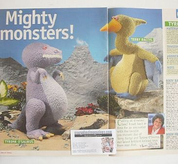 Mighty Monsters to knit (designed by Alan Dart)