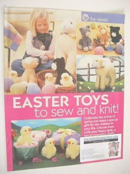 Easter Toys to sew and knit (designed by Alan Dart)