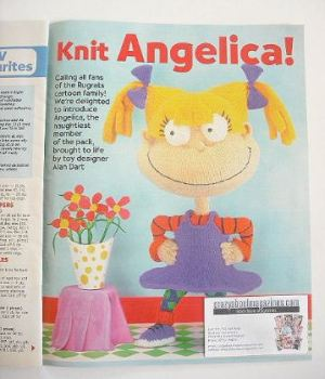 Rugrats Angelica toy to knit (designed by Alan Dart)