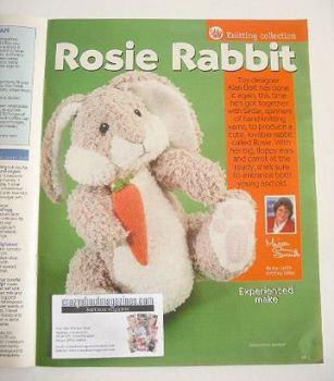 Rosie Rabbit toy knitting pattern (designed by Alan Dart)