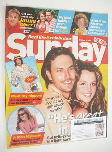 <!--2005-10-16-->Sunday magazine - 16 October 2005 - Britney Spears & Kevin