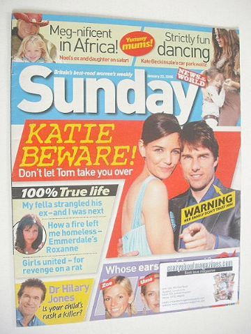 <!--2006-01-22-->Sunday magazine - 22 January 2006 - Katie Holmes and Tom C