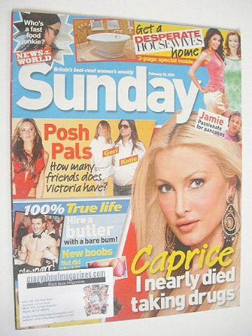 <!--2006-02-26-->Sunday magazine - 26 February 2006 - Caprice cover