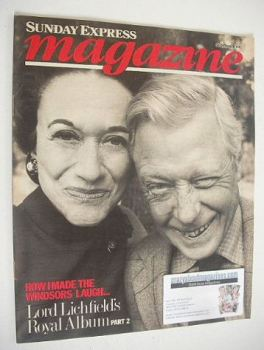 Sunday Express magazine - 24 October 1982 - The Duke and Duchess of Windsor cover