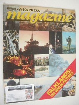 Sunday Express magazine - 7 November 1982 - Falklands War cover