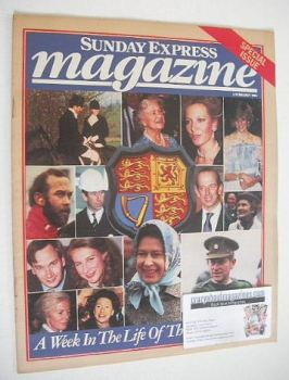 Sunday Express magazine - 6 February 1983 - The Royal Family cover