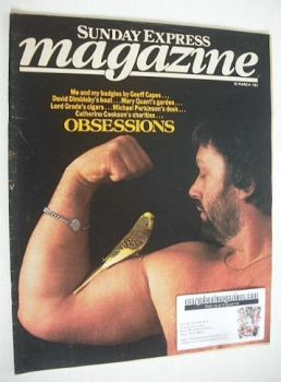 Sunday Express magazine - 20 March 1983 - Geoff Capes cover